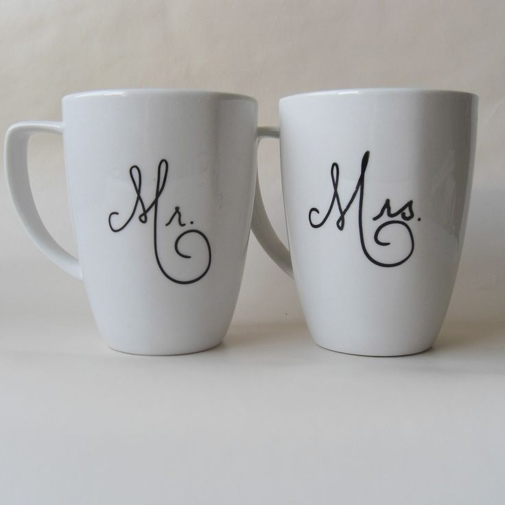 Mr. and Mrs. mugs - sweet bridal shower gift new styles are listed often so check back regularly.