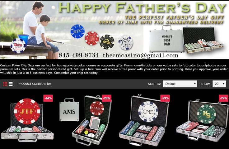 Custom Poker Chip Sets are the perfect Father's Day gift. Design yours online today @ CustomMadeCasino.com and get dad something he will truly love   #poker #pokernight #giftideas #fathersday #custommadecasino
