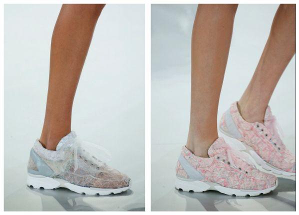 Chanel pone de moda los tenis alta costura para novia #Chanel #Wedding #Shoes #Fashion #Trend #BrideToBe