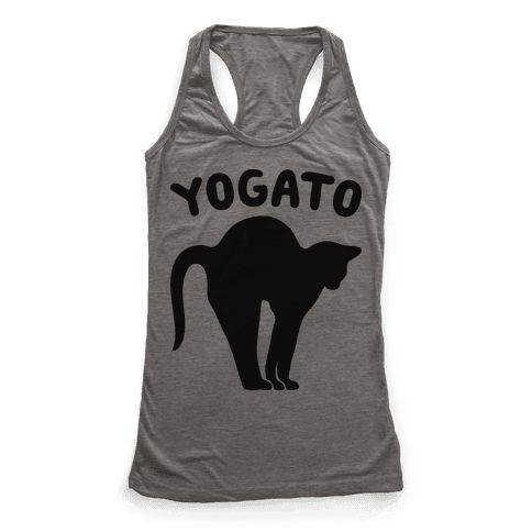 "Yogato - Show off your love of cat pose and cats with this, ""Yogato"" yoga pun design! Perfect for doing yoga, loving cats, cat puns and wishing everyone a purrrrfect yoga session!"