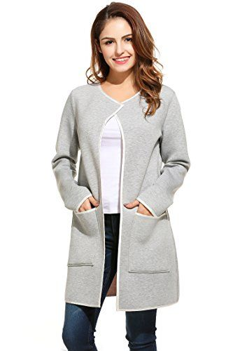 Meaneor Women's Reversible O-Neck Long Sleeve Cardigan ... http://amzn.to/2p81T1r