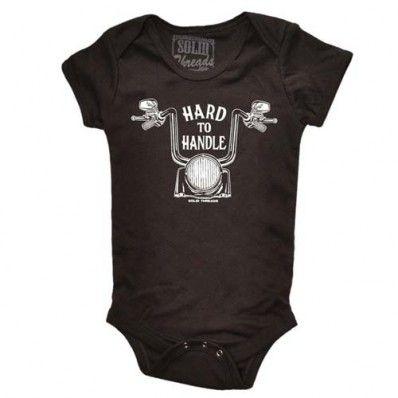 Otis Redding Hard To Handle Washed Black Baby Onesie