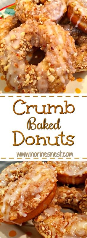 Coffee Cake Baked Crumb Donuts! These little gems are the best! So fun to make and SO yummy!