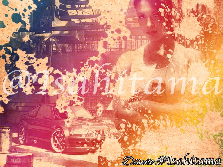 Photoshop CC watercolor effect, Need for Speed: Most Wanted