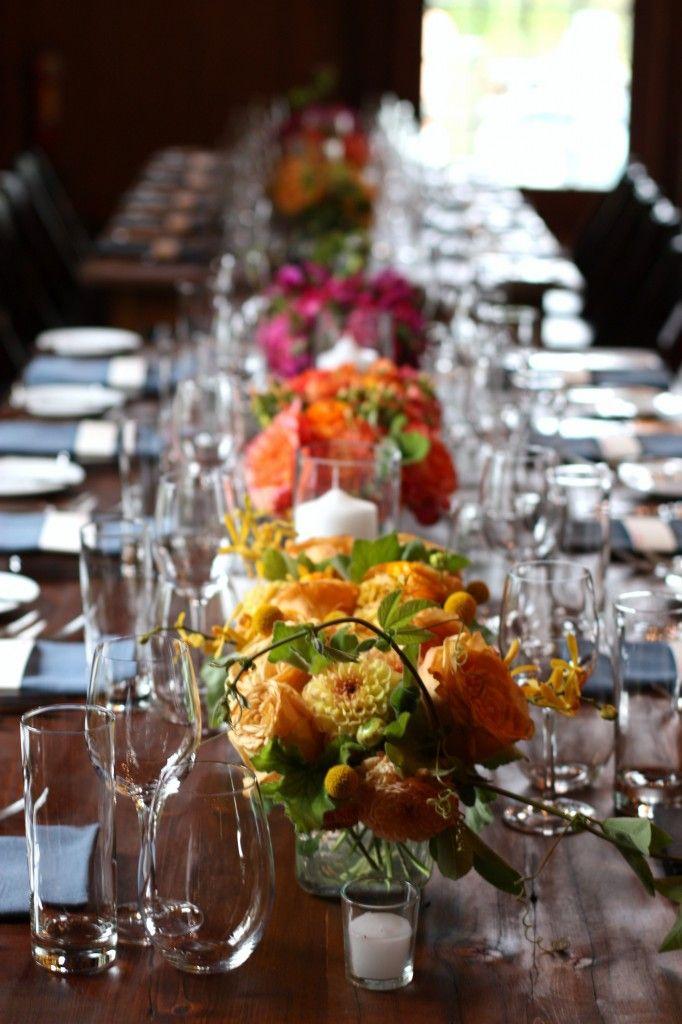 10 images about rehearsal dinner on pinterest wedding for Dinner table flowers