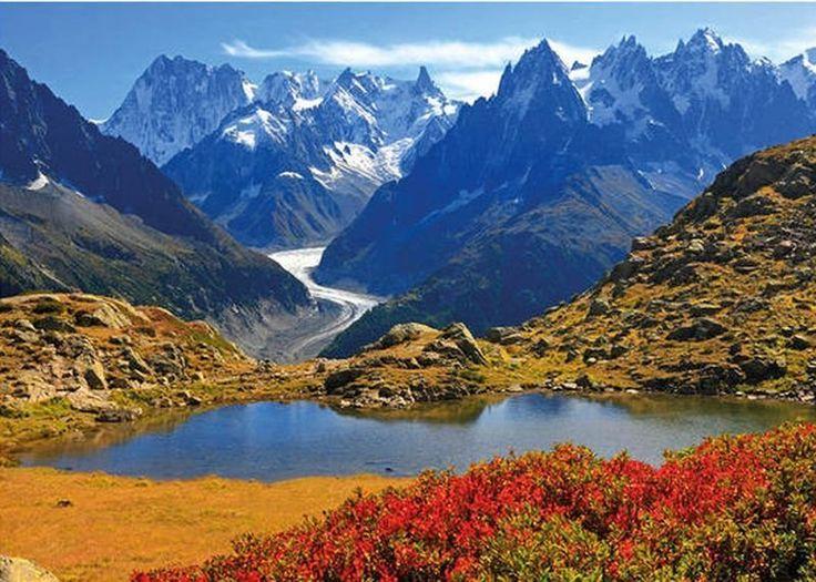 Puzzle DINO 1000 dílků - Savojské Alpy, Francie