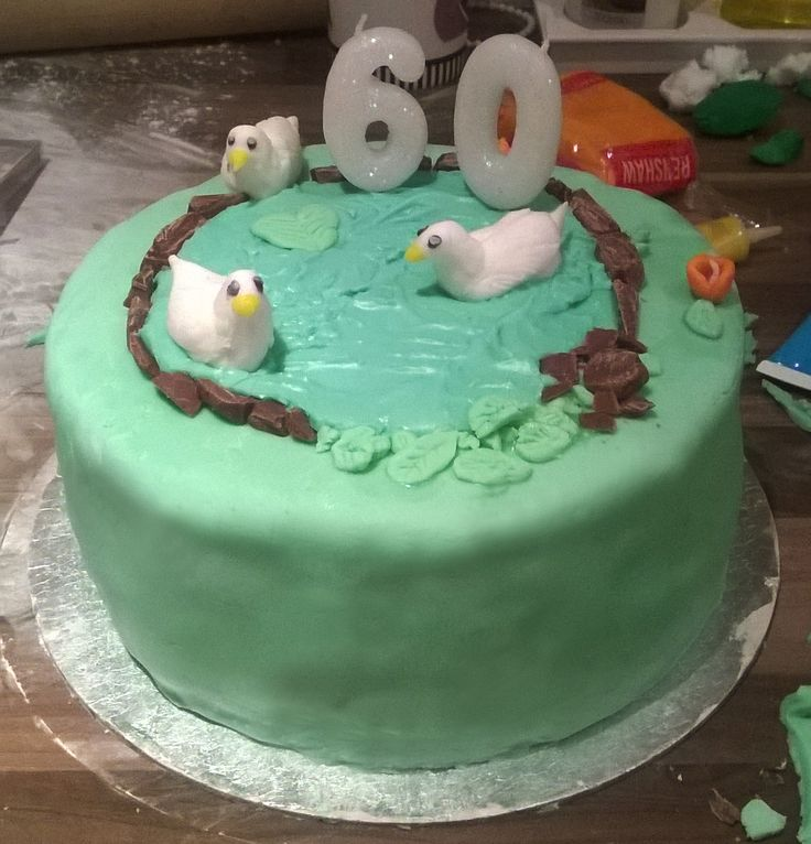 Another 60th, wanted to get her ducks Derek and Daphne in on it.