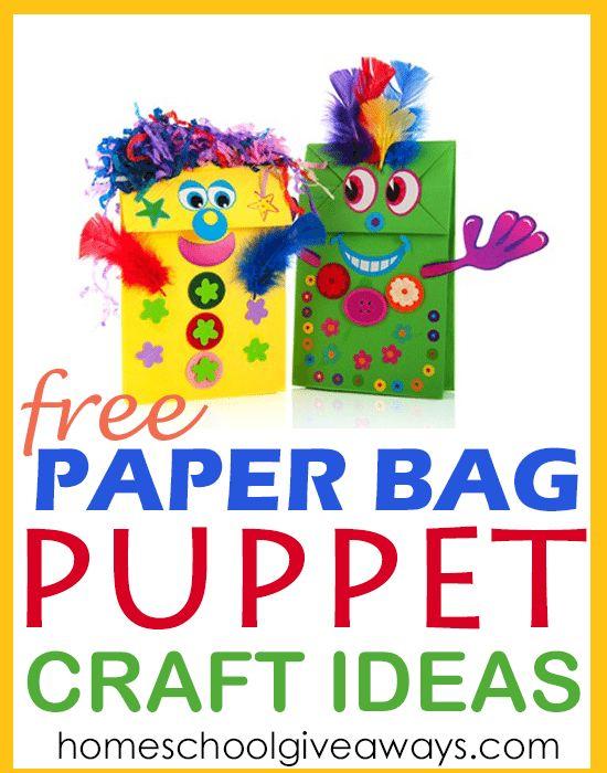 FREE Paper Bag Puppet Craft Ideas