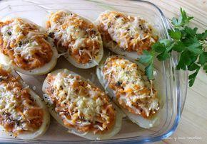Patatas, patatas rellenas, atún, recetas de patatas rellenas , Julia y sus recetas
