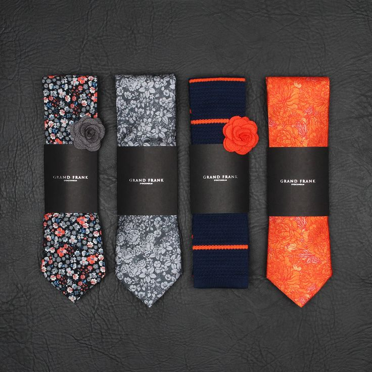 A set of ties - all perfect for the season. www.Grandfrank.com