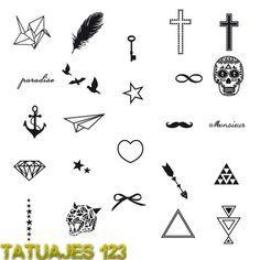 dibujos chiquitos para tatuajes - Buscar con Google