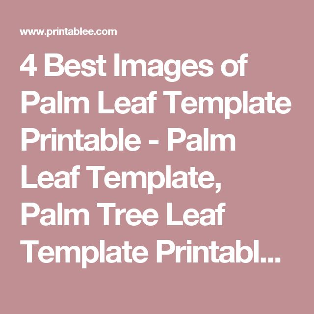 4 Best Images Of Palm Leaf Template Printable Palm Leaf Template