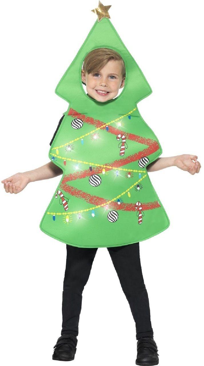 Your Child Will Shine The Brightest With This Light Up Christmas Tree Fancy Dress This Is Perfe Disfraz De Arbol De Navidad Disfraz Arbol Disfraces De Navidad