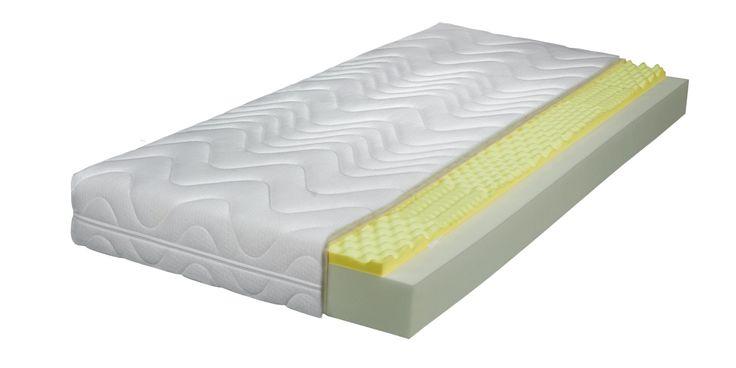 Memory Easy 7-Zonen-Visco-Conturschaum Gesamthöhe ca. 17cm Hoher Liegekomfort durch punktelastische, lochgebohrte Viscoschaumabdeckung und einen perforierten 7 Zonen-Kaltschaumkern ■ 14 cm hoher 7... #matratzen