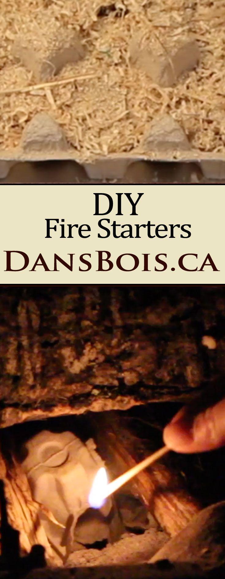 DIY Firelighters - Fire Starters From Repurposed Materials  #fire #woodheat #woodstove #repurposed #firestarter