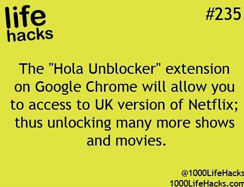 Hola Unblocker actually works! Canada version of Netflix has lots of new movies/shows that US version does not!