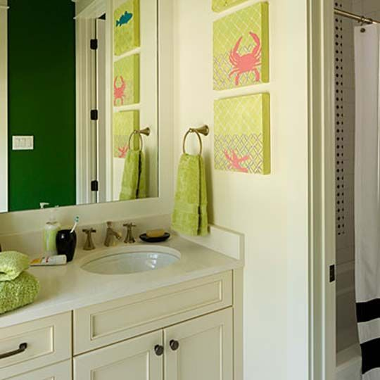 Kid Bathroom Decor, Girl Bathrooms, Design Bathroom, Small Bathrooms, Green  Bathrooms, Cute Kids, For Kids, Bathroom Inspiration, Children S