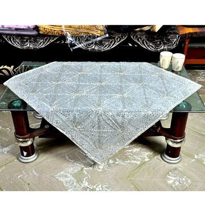 Buy Nonch Le Silver Antique Embroided Table Cover by Nonch Le , on Paytm, Price: Rs.998?utm_medium=pintrest