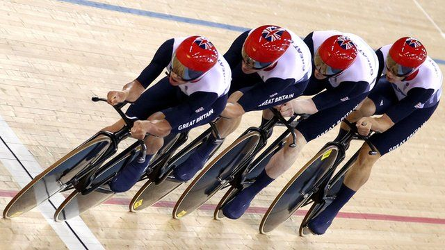 "Great Britain's men's team pursuit - Clancy, Steven Burke, Geraint Thomas and Peter Kennaugh were roared home as they beat rivals Australia for gold.  ""It just blows your mind,"" said Clancy, part of the quartet that won the same event in Beijing in 2008.  Clancy, 27, from Huddersfield, (Yorkshire) won gold in the men's team pursuit. He also took bronze in the omnium."