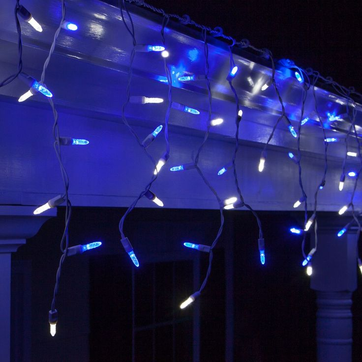 Baby Blue Christmas Lights