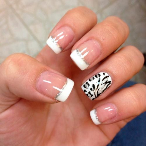 30 Thrilling French Tip Mani Designs You'll Love | Hairstyles, Nail Art, Beauty and Fashion