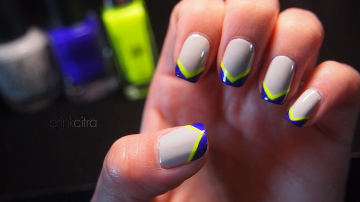 Grey x neon yellow X cobalt blue