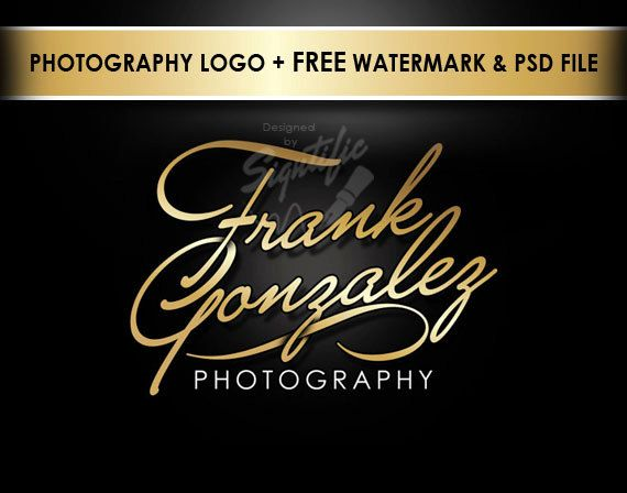 Elegant photography logo free watermark and psd source