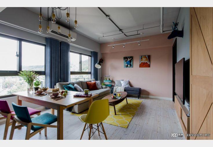美式X工業小宅_美式風設計個案—100裝潢網