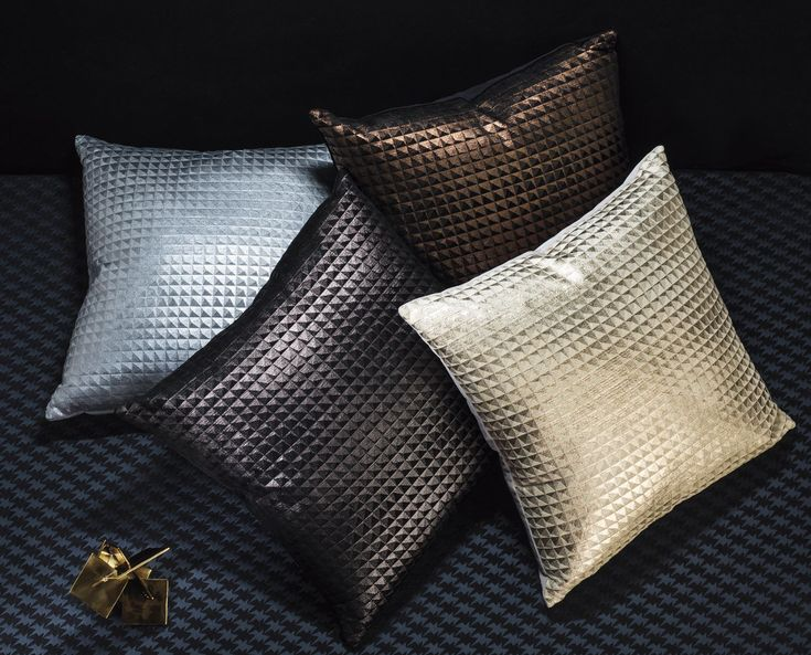 A capsule collection of #luxury #cushions derived from the #exclusive Eley Kishimoto and Kirkby Design collaboration. Exploring a mutual #passion for #pattern, the two brands have worked together to create #exciting and #original designs in #jacquard #weaves, #epingle #velvets, #textural #chenilles and layered #foil #prints. This #cushion collection offers #impactful #designs tailor made to make a #statement in any #interiors scheme.