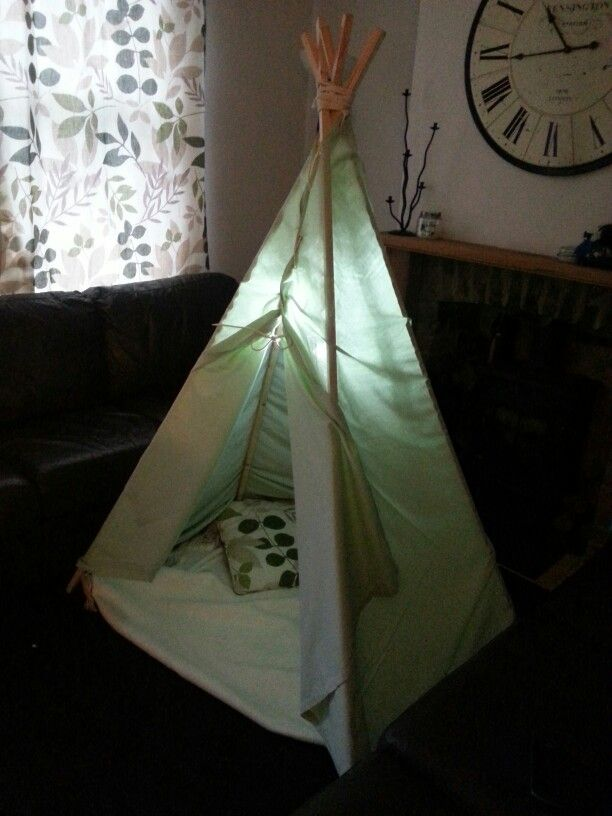Teepee, me and Steviej made on a wet Saturday!  Aj loved it!
