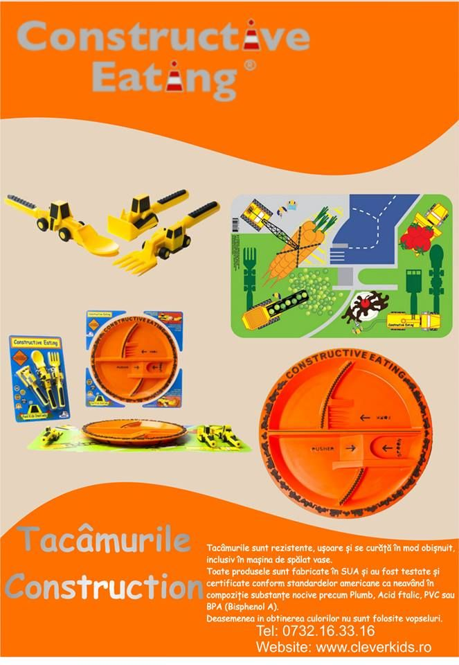 Poster Constructive Eating - Tacamurile Construction | in-time.ro