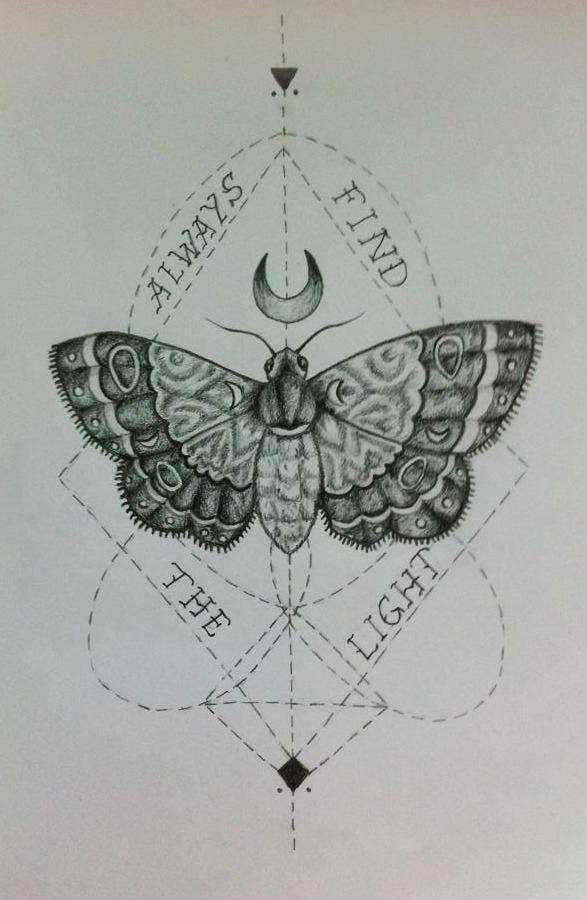 moth tattoo by PaleCreature on DeviantArt