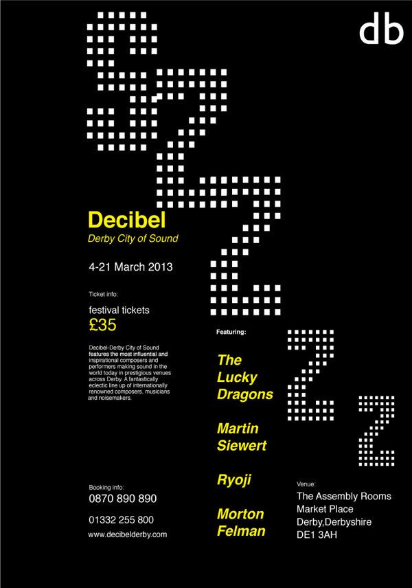 Decibel Music Festival poster and animation on Behance