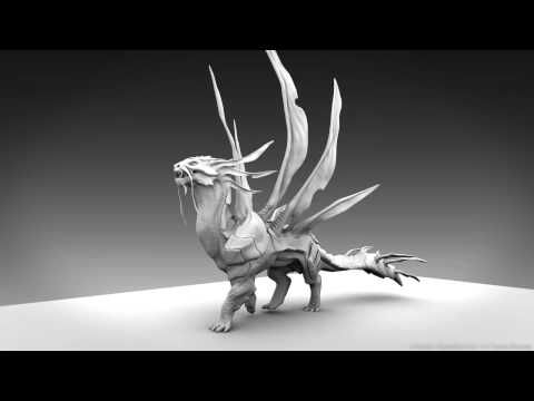 Project Quadruped - Dragon walk cycle - YouTube