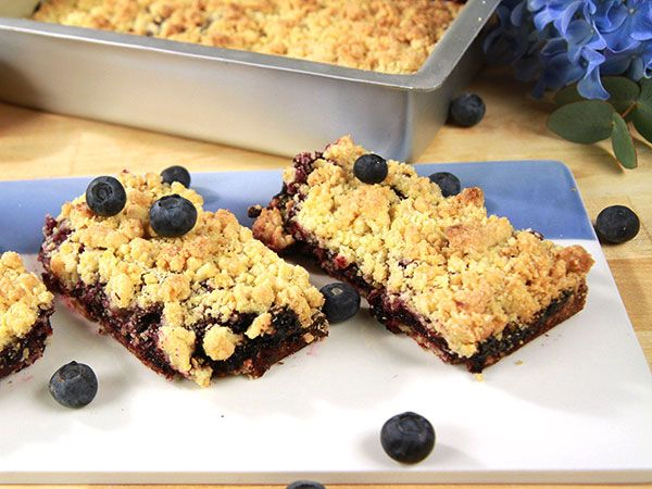 Blueberry bars med citron | Recept.nu