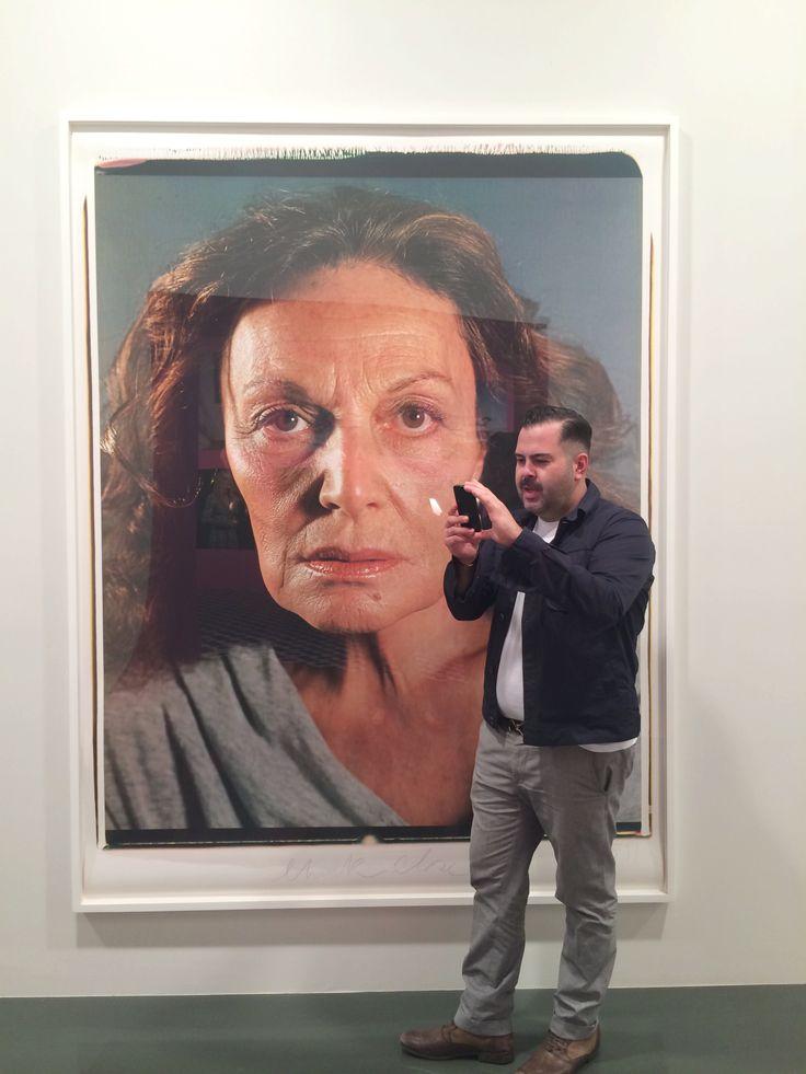 #DVF #JourneyofaDress exhibit at LACMA #ChuckClose