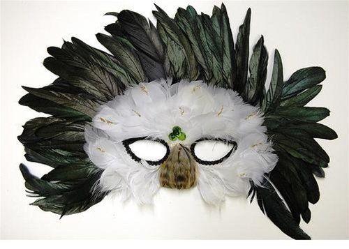 Feather Mask M33 (Great for Masquerade Madi Gras Halloween) @ niftywarehouse.com #NiftyWarehouse #Halloween #Scary #Fun #Ideas