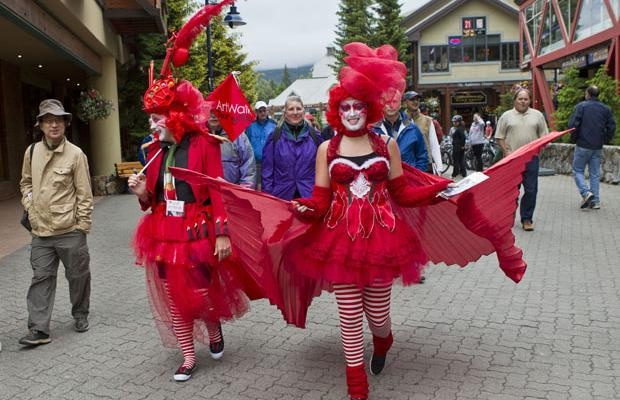 Whistler is gearing up for its 9th annual ArtWalk, a summer festival showcasing regional art that's all about celebrating local artists and the businesses that support them. The two-month, self-guided walking tour is free and winds in and out of 40 busy venues in Whistler. It kicks off July 1. #Whistler #festivalSummer Festival