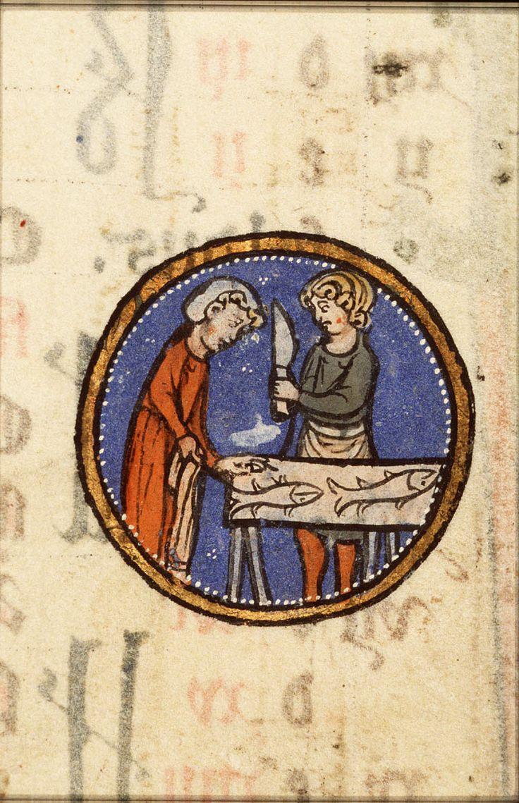 Vissen. #pisces http://www.kb.nl/webexposities/hoogtepunten-uit-middeleeuwse-handschriften/tekens-van-de-dierenriem