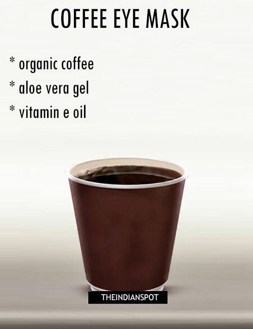 Coffee contains anti-inflammatory and antioxidant properties that can keep your skin bright and soft. Also, the caffeine can shrink the blood vessels under your eyes reducing dark circles and puffy eyes. Caffeine Coffee Mask for puffy eyes: Caffeine can tighten skin, smooth puffiness, fight free radicals, and reduce dark under eye circles while aloe veraand …