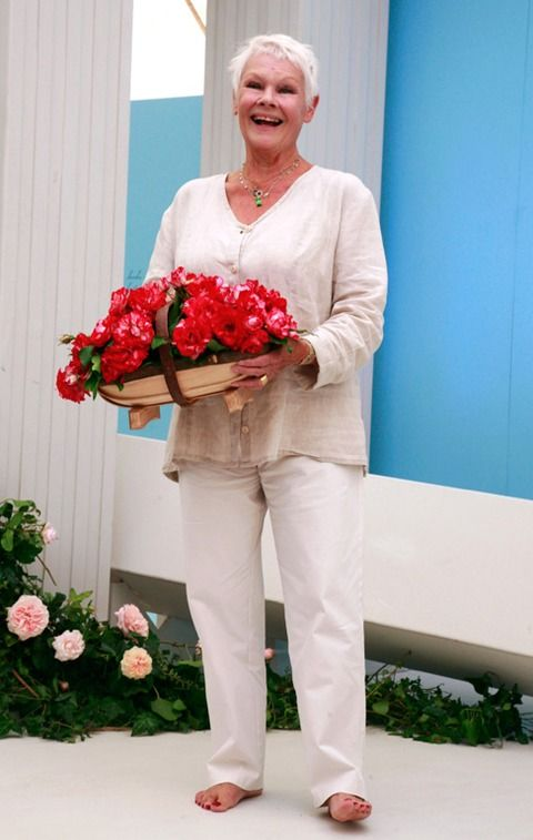 Judi Dench....this pic reminds me of you Katrina. ..with the flowers