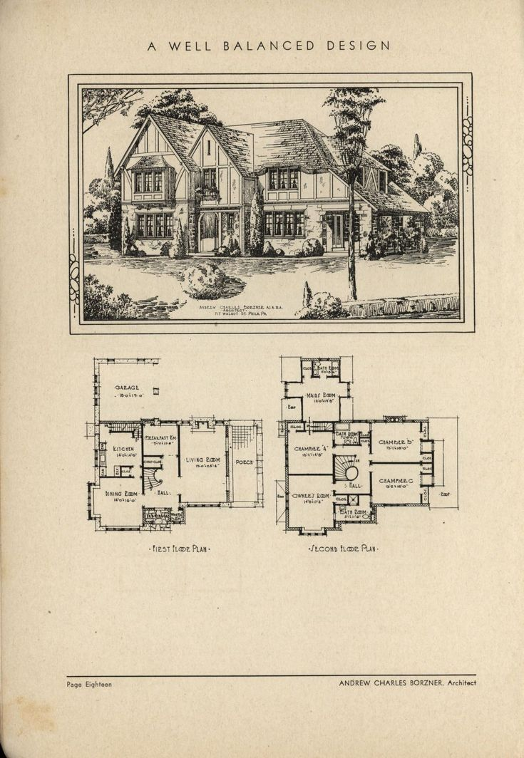 Well Balanced Design By Architect Andrew Charles Borzner. The Book Of  Beautiful Homes.