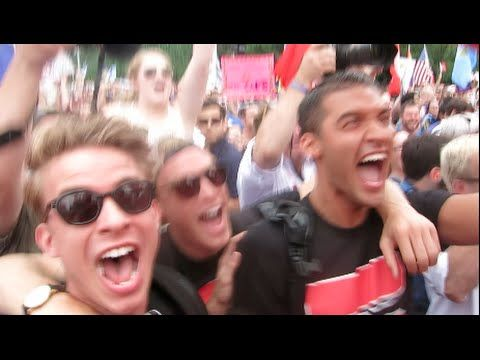 WATCH: The Wild Moment People Outside SCOTUS Heard the News   Advocate.com