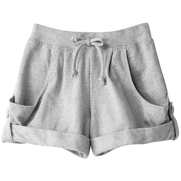【ELLE SHOP】カバーアップヨガオーガニックショーツグレー|アディダス バイ ステラマッカートニー(adidas by Stella... ($96) ❤ liked on Polyvore featuring shorts, bottoms, pants, short, adidas, short shorts and adidas shorts