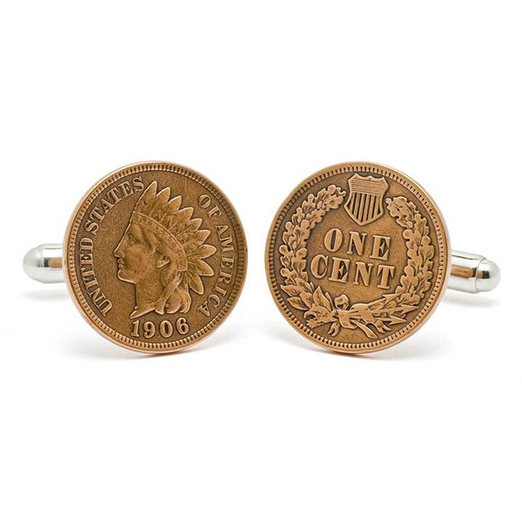 Indian Head Penny Cufflinks by Tokens & Icons
