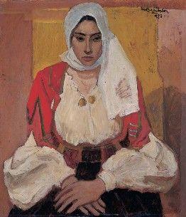 DONNA DI ORANI, 1953, Mario Delitala, Sardegna