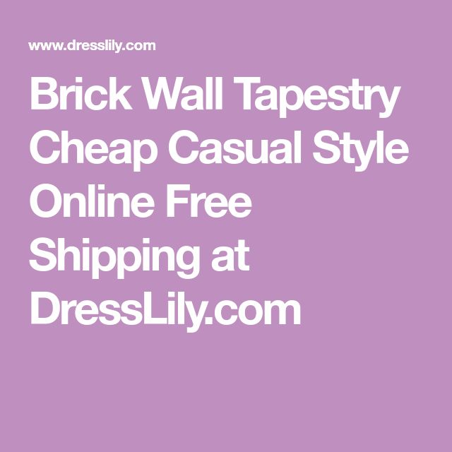 Brick Wall Tapestry Cheap Casual Style Online Free Shipping at DressLily.com