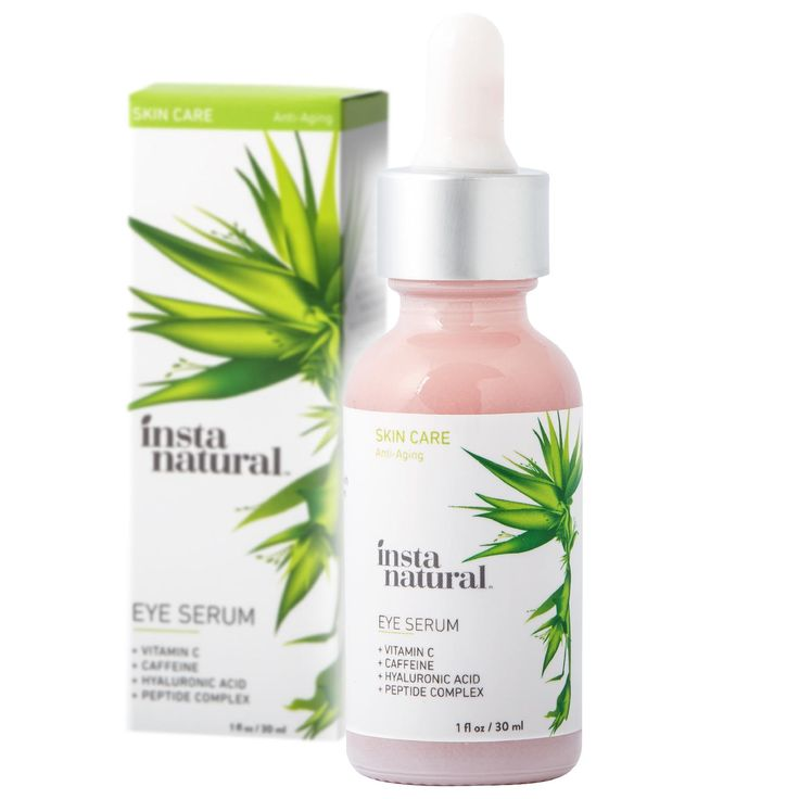 My latest find on Musely! InstaNatural Eye Serum For Dark Circles & Puffiness - Reduces Bags, Wrinkles, Fine Lines, Sagging Skin & Puffy Eyes - With Vitamin C, Caffeine, Plant Stem Cells, Astaxanthin & Kojic Acid ...