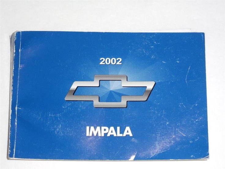 2002 Chevrolet Impala Owners Manual Book