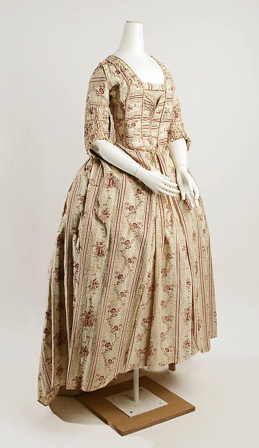 Dress    Date:      late 18th century  Culture:      French  Medium:      cotton Met Museum